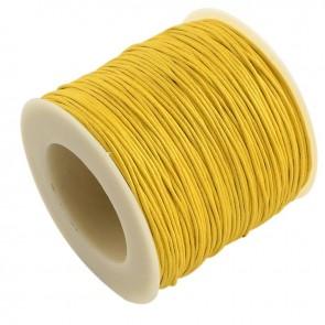 Baumwollkordel gewachst, ø 1mm, gelb, ca. 90m