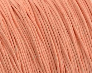 Gewachste Baumwollkordeln, Schmuckkordeln, Wachsbänder, 1 mm, lachs-rosa