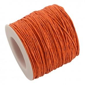 Baumwollkordel gewachst, ø 1mm, orange, ca. 90m