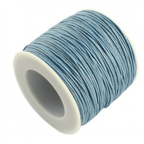 Baumwollkordel gewachst, ø 1mm, hellblau, ca. 90m