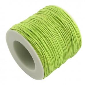 Baumwollkordel gewachst, ø 1mm, hellgrün, ca. 90m