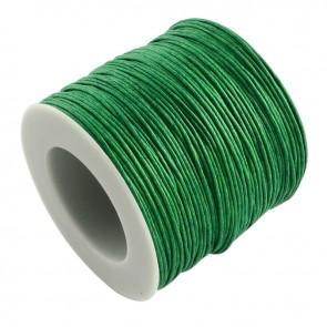 Baumwollkordel gewachst, ø 1mm, grün, ca. 90m