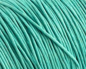 Gewachste Baumwollkordeln, Schmuckkordeln, Wachsbänder, 1 mm, helltürkis / aquamarin