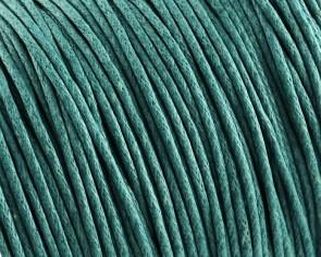 Gewachste Baumwollkordeln, Schmuckkordeln, Wachsbänder, 1 mm, türkis