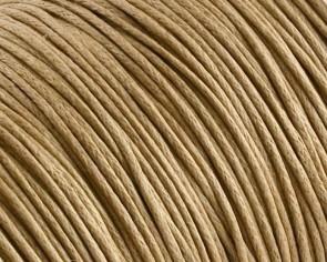 Gewachste Baumwollkordeln, Schmuckkordeln, Wachsbänder, 1 mm, beige / hellbraun
