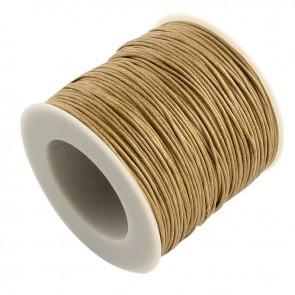 Baumwollkordel gewachst, ø 1mm, beige, ca. 90m
