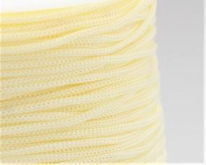 Polyesterkordel, Polyestergarn für Makramee, 0.8mm geflochten, creme-weiss, ca.120m