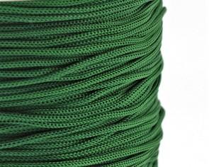 Polyesterkordel, Polyestergarn für Makramee, 0.8mm geflochten, dunkelgrün, ca.120m