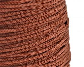 Polyesterkordel, Polyestergarn für Makramee, 0.8mm geflochten, braun, ca.120m