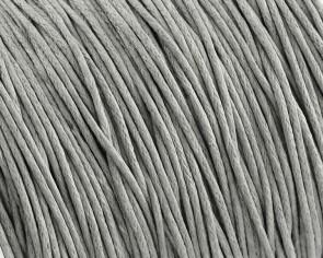 Gewachste Baumwollkordeln, Schmuckkordeln, Wachsbänder, 1 mm, hellgrau