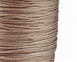 Schmuckkordel Polyesterschnur hellbraun/beige gewachst, 1mm