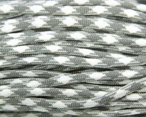Paracord Kordel, 4mm, grau-weiss gemustert, 10m
