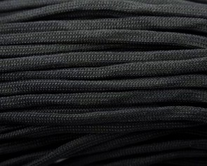Paracord Kordel, 4mm, uni schwarz, 10m