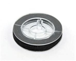 Makramee Nylonschnur, Nylonfaden 0.8mm, schwarz, geflochten, ca. 9m