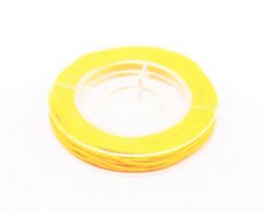 Makramee Nylonschnur, Nylonfaden 0.8mm, gelb, geflochten, ca. 9m