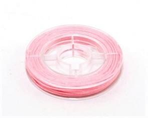 Makramee Nylonschnur, Nylonfaden 0.8mm, rosa, geflochten, ca. 9m