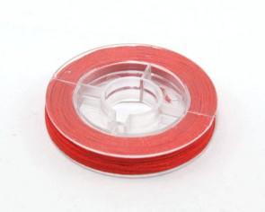 Makramee Nylonschnur, Nylonfaden 0.8mm, rot, geflochten, ca. 9m