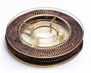 Metallic Makramee Garn, 0.6mm, braun, geflochten, ca. 10m