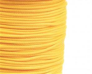 Schmuckkordel Polyesterschnur gelb gewachst, 1mm