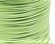 Schmuckkordel Polyesterschnur hellgrün gewachst, 1mm