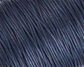 Gewachste Baumwollkordeln, Schmuckkordeln, Wachsbänder, 1mm, dunkelblau