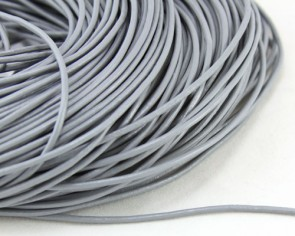 Lederband, Lederkordel, Lederschnur 2 mm, grau, echtes Rindsleder, Meterware