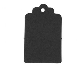 Papieranhänger, Geschenkanhänger, Etiketten, schwarz, rechteckig 5 x 3 cm, 50 Stk.