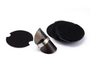Ring Display, Kunststoff-Scheibe schwarz, 39mm, 10 Disks