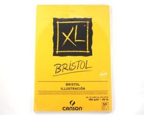 Canson XL Bristol Skizzen- und Studienblock, DIN A4, 180 g/m², 50 Blatt