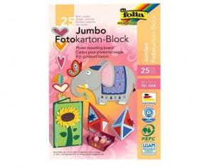 folia Jumbo Fotokartonblock, farbig sortiert, 340 x 240mm, 300 g/m², 25 Blatt
