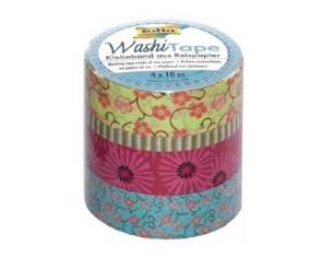 folia Washi-Tape Motiv-Klebeband 'Blumenreigen', 4er Set