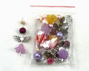 Perlenengel Bastelset für 12 Schutzengel, Girls, 1 Set