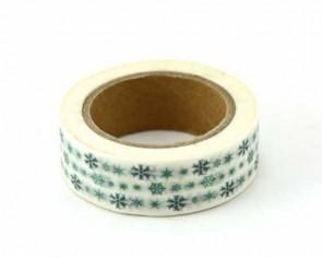 Washi-Tape Motiv-Klebeband mit Schneeflocken, 15mm x 10m
