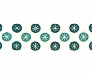 Washi-Tape Motiv-Klebeband mit Schneeflocken-Motiv, 15mm x 10m