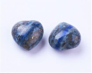 Lapis Lazuli Edelstein Herz, blau, 15mm, ohne Bohrung, 1 Stk.